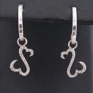 Open heart earrings by Jane Seymour